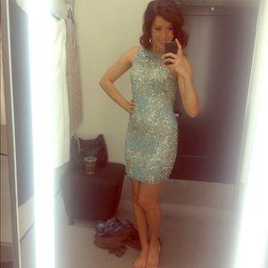 Aqua Blue Mini Dress